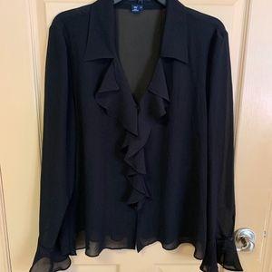 Chaps women's blouse- 2 piece size 16